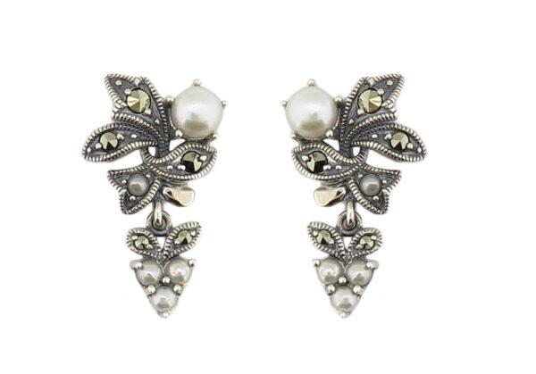 Freshwater & Seed Pearl Earrings MJ19347