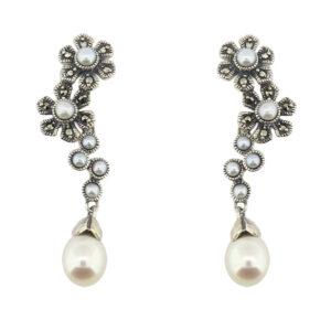 Freshwater & Seed Pearl Earrings MJ19348