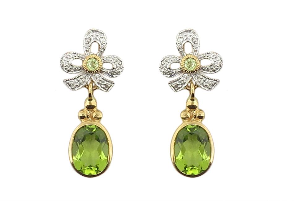 Peridot & Diamond Earrings MJ19403