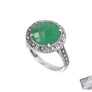 Green Chalcedony Ring MJ19423