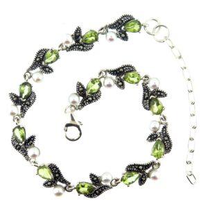 Peridot & Pearl Bracelet MJ19431