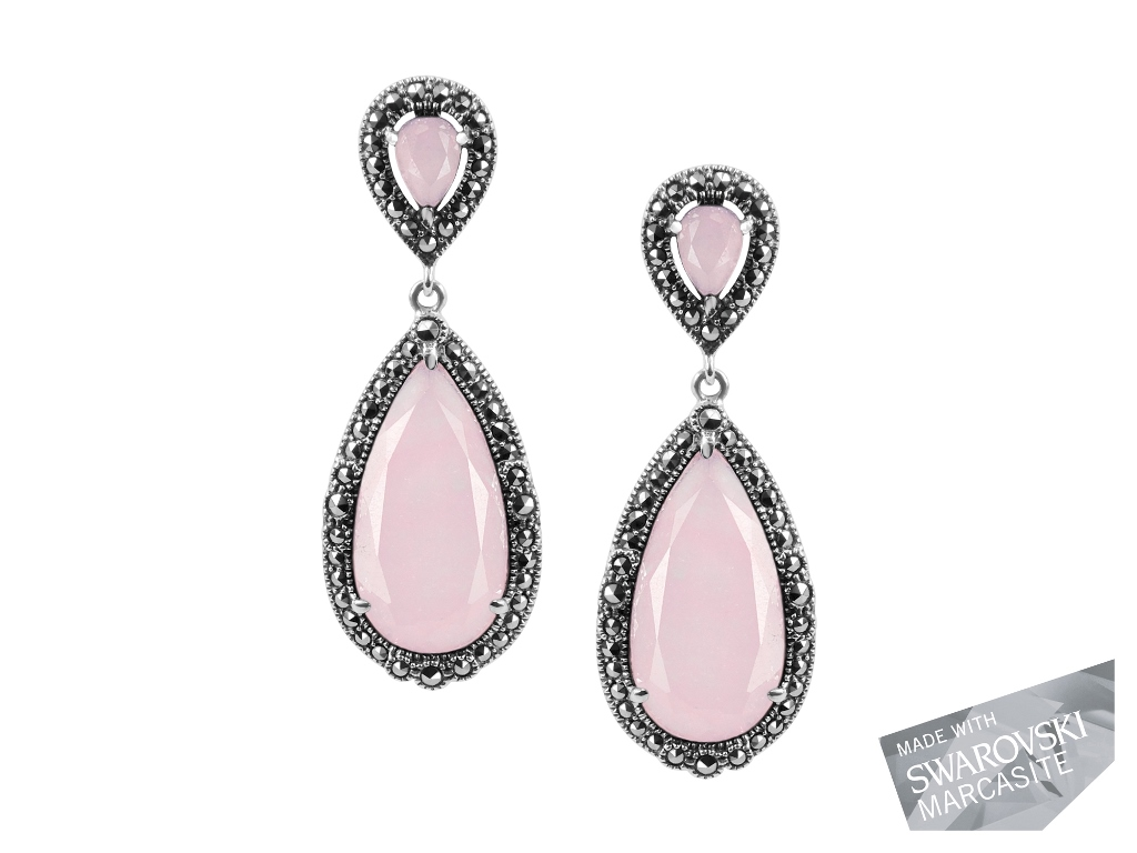 Pink Chalcedony Earrings MJ19449