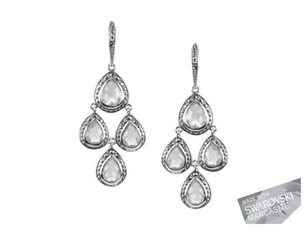 Clear Quartz Chandelier Earrings MJ19454
