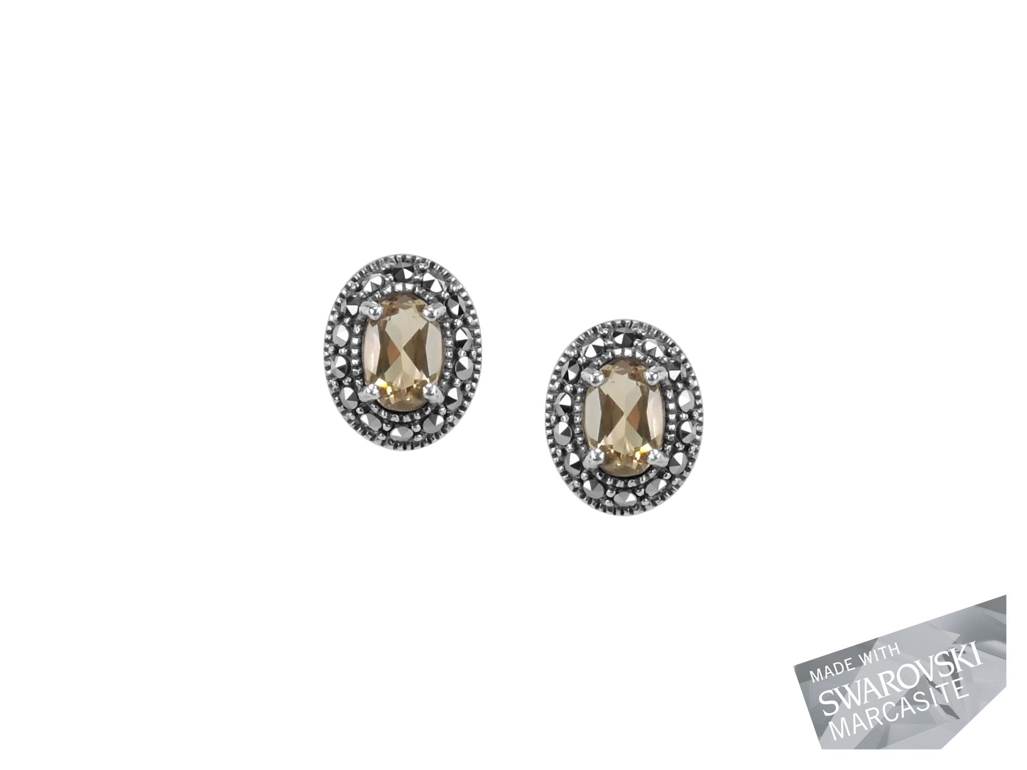 Citrine Stud Earrings MJ19461