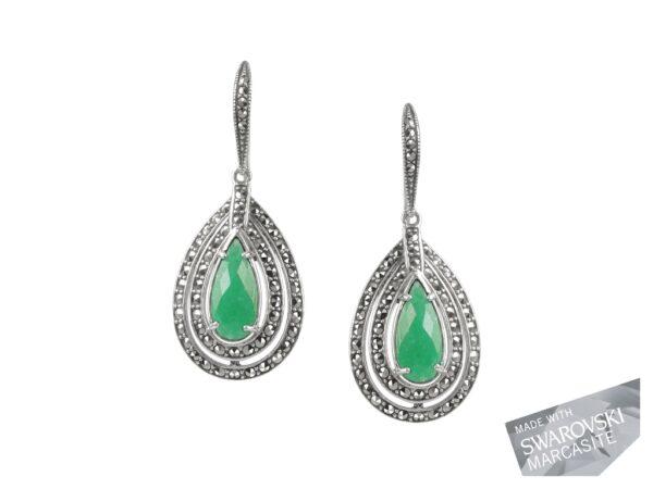 Green Chalcedony Earrings MJ19464