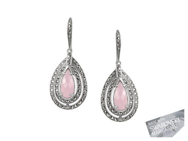 Pink Chalcedony Earrings MJ19465