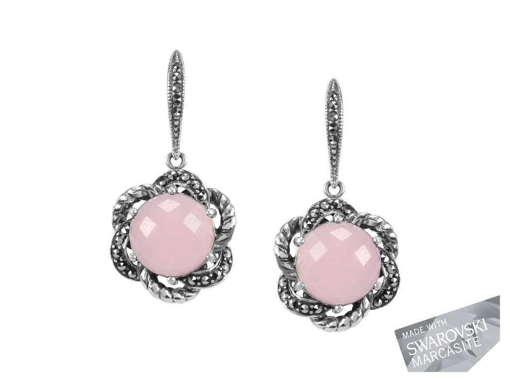 Pink Chalcedony Earrings MJ19468