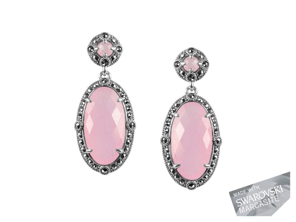 Pink Chalcedony Earrings MJ19475