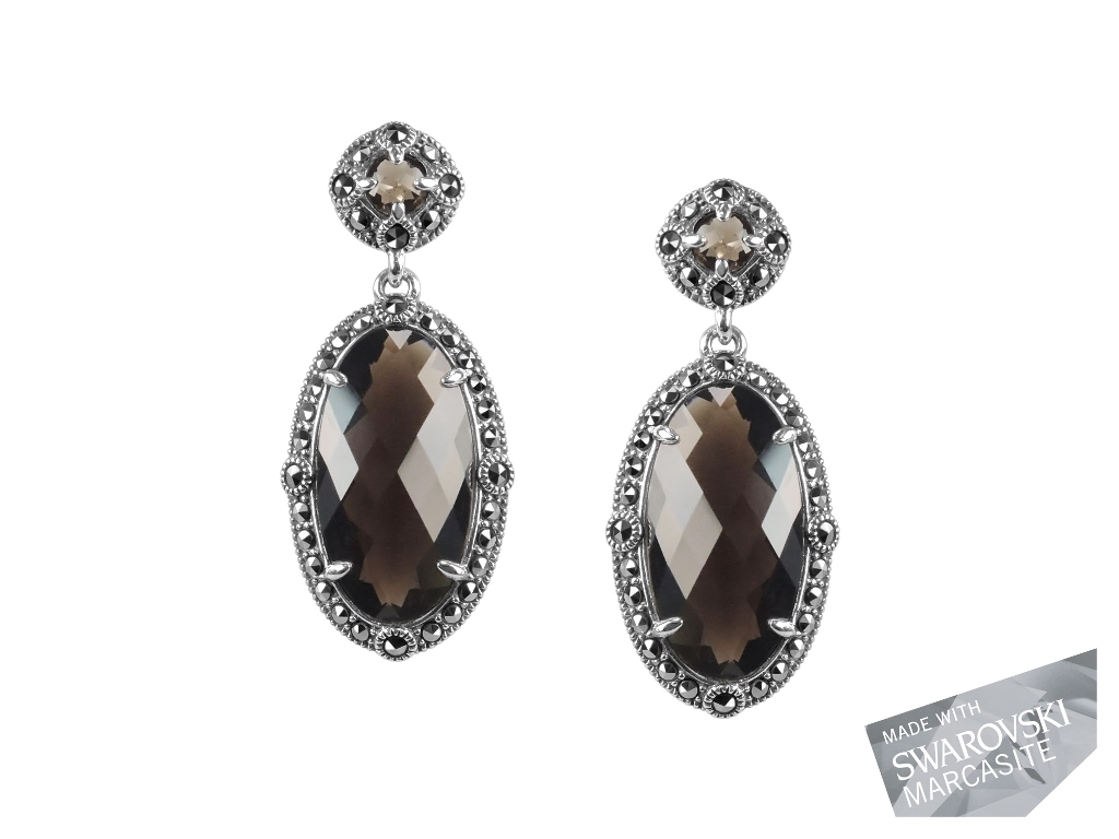 Smokey Quartz Earrings MJ19477
