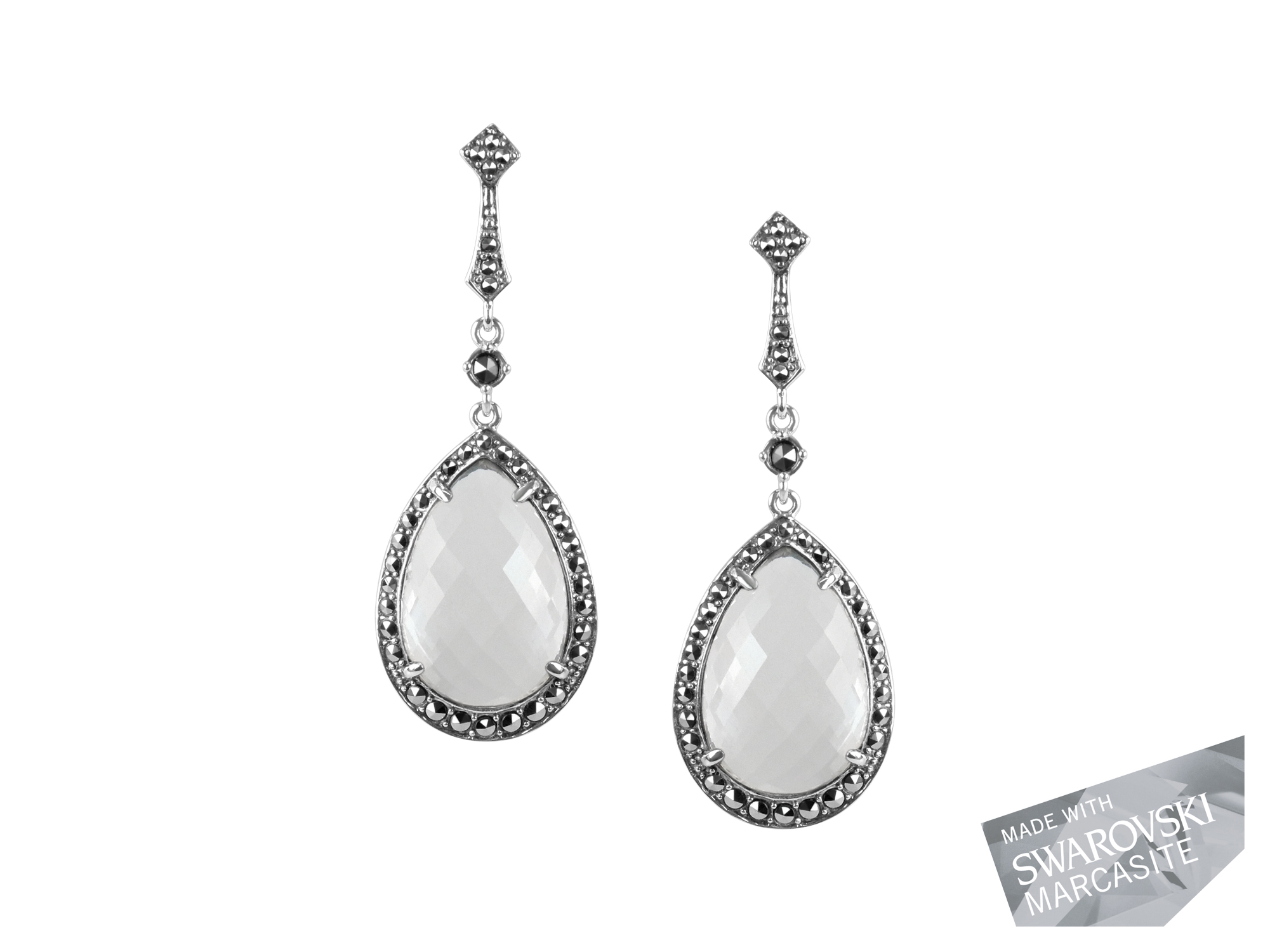 Clear Quartz Earrings MJ19492
