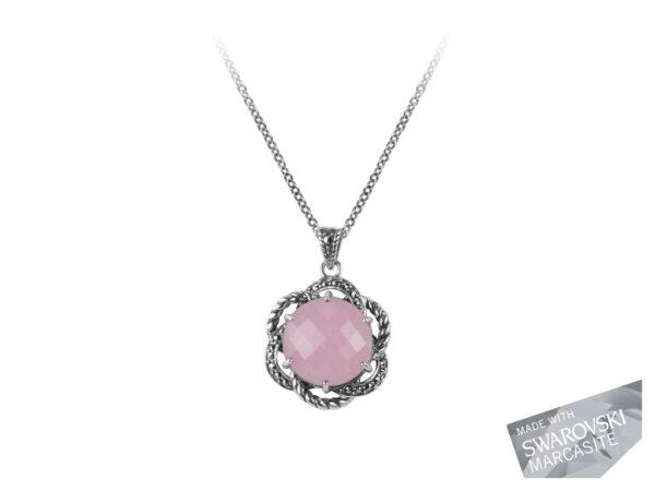 Pink Chalcedony Necklace MJ19521