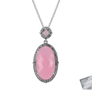 Pink Chalcedony Necklace MJ19535