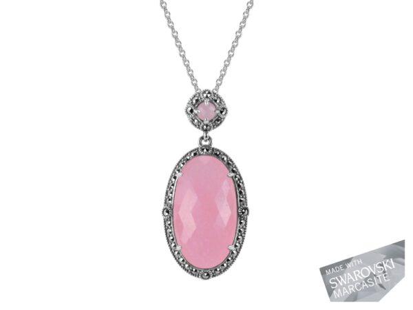 Pink Chalcedony Necklace MJ19535