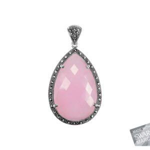 Pink Chalcedony Pendant MJ19539