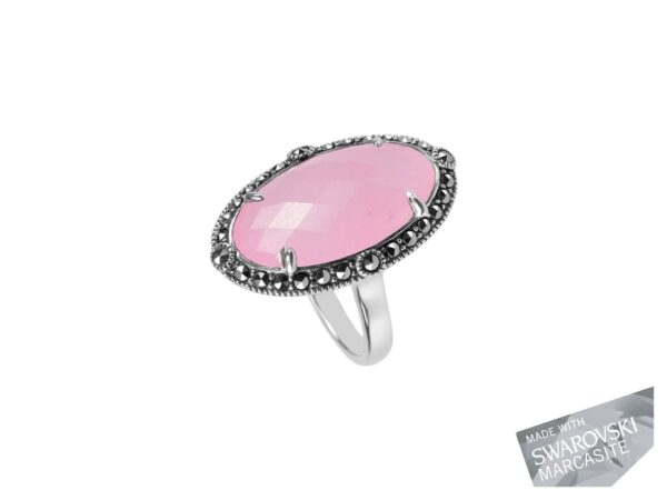 Pink Chalcedony Ring MJ19577