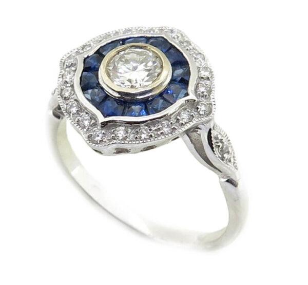 Sapphire & Diamond Ring MJ19603