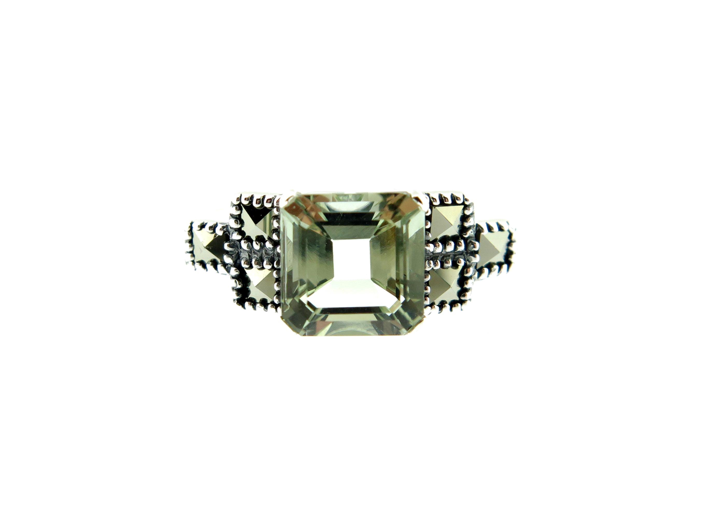 Green Amethyst Ring MJ19700