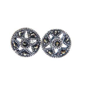 Marcasite Stud Earrings MJ19810