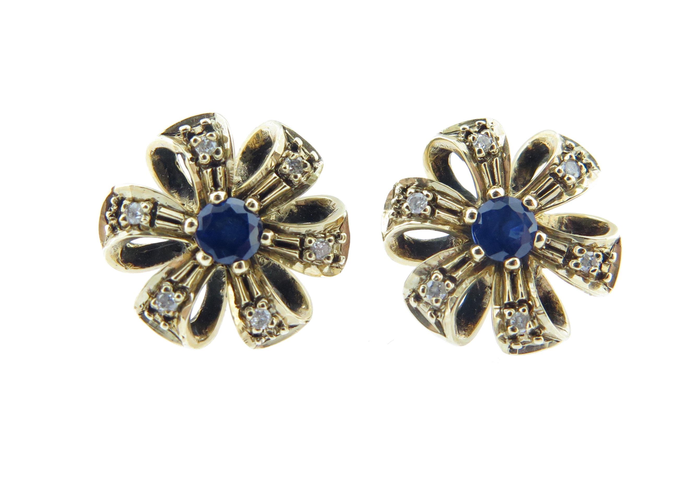 Sapphire & Diamond Studs MJ19925