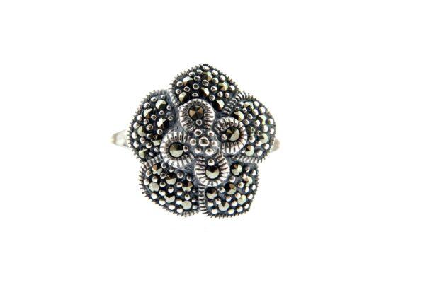 Marcasite Flower Ring MJ20052