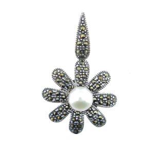 Freshwater Pearl Flower Pendant MJ20068