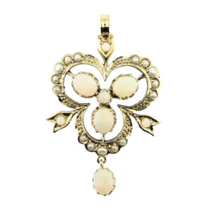 Opal & Seed Pearl Pendant MJ20229
