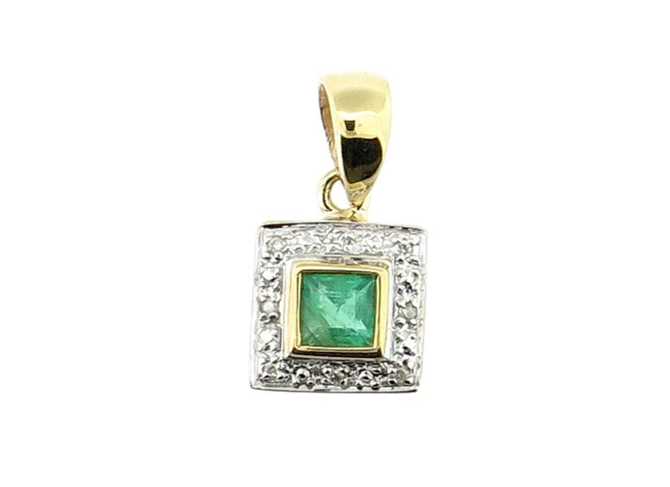 Emerald & Diamond Pendant MJ20231
