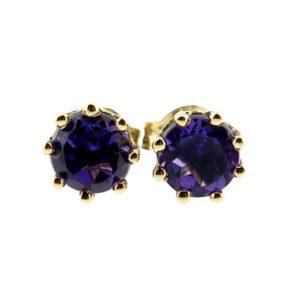 Amethyst Stud Earrings MJ20236