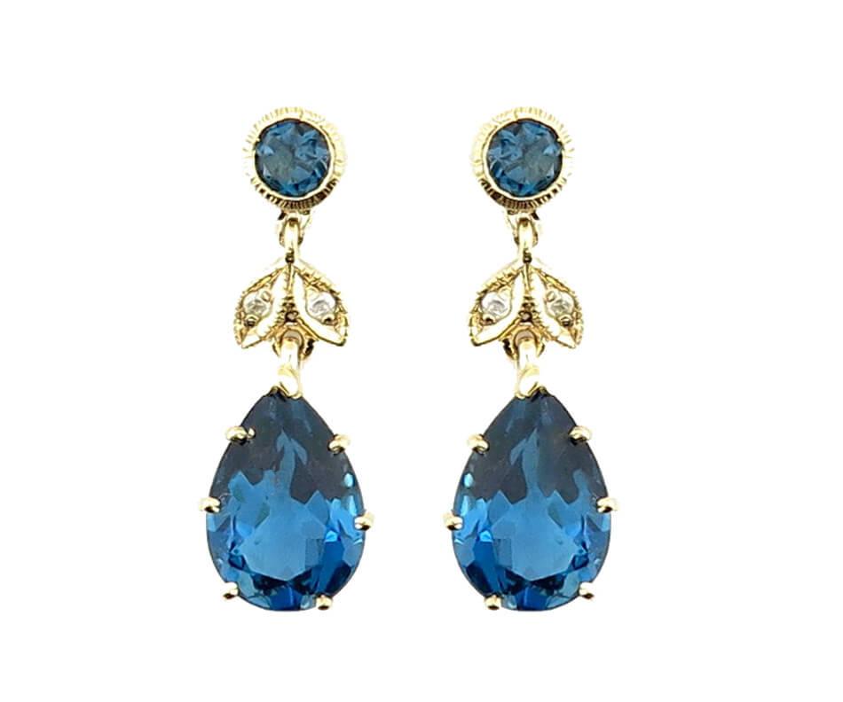London Blue Topaz Earrings MJ20248