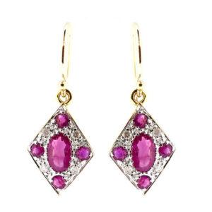 Ruby & Diamond Earrings MJ20252