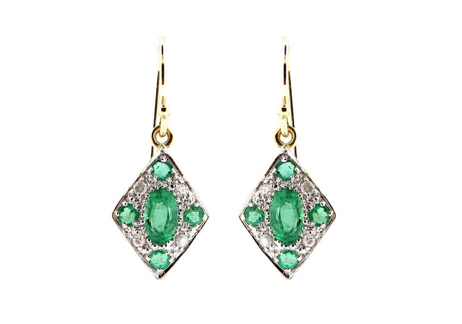 Emerald & Diamond Earrings MJ20253