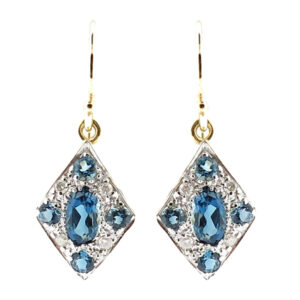 London Blue Topaz & Diamond Earrings MJ20255