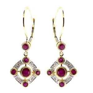 Ruby & Diamond Earrings MJ20256