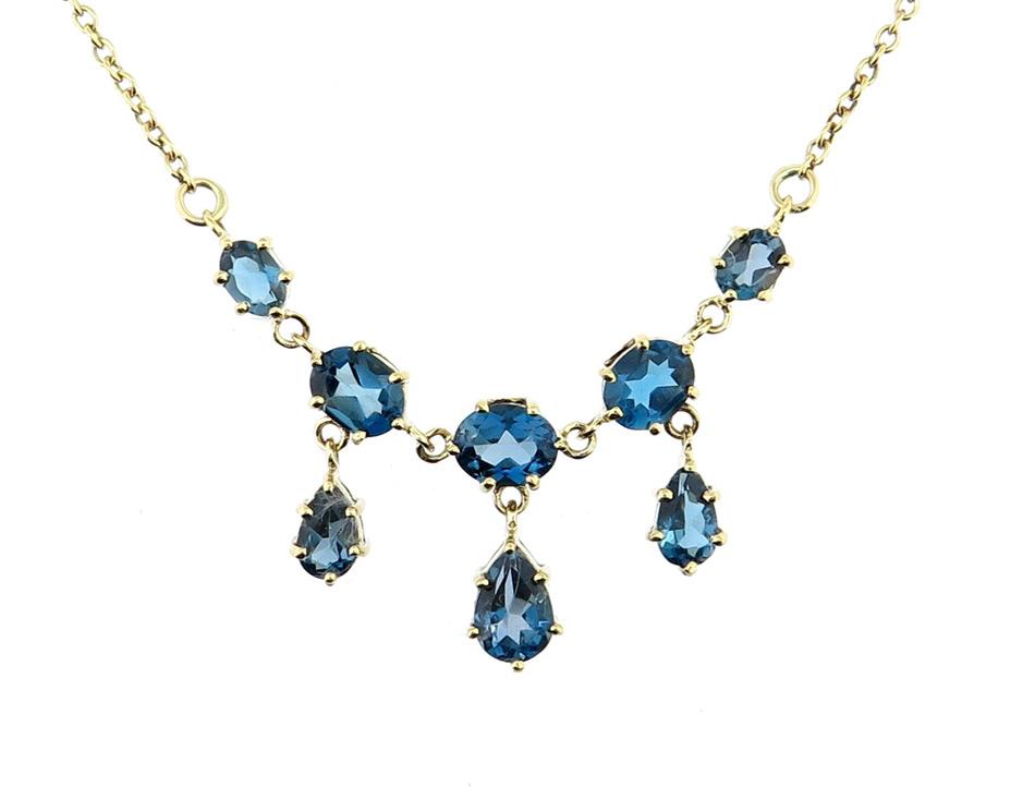 London Blue Topaz Necklace MJ20262