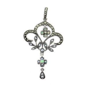 Opal & Seed Pearl Pendant MJ20274