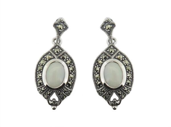 Opal & Marcasite Earrings MJ20280