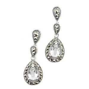 Silver Topaz Earrings MJ20289