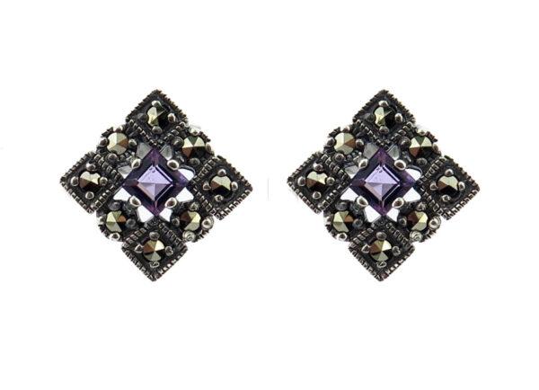 Amethyst Stud Earrings MJ20297