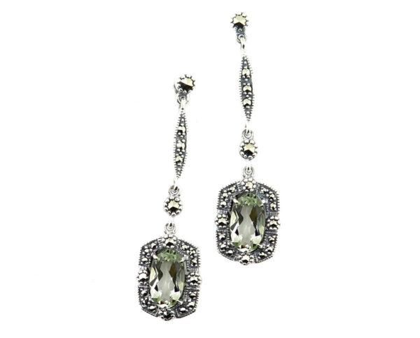 Green Amethyst Earrings MJ20340