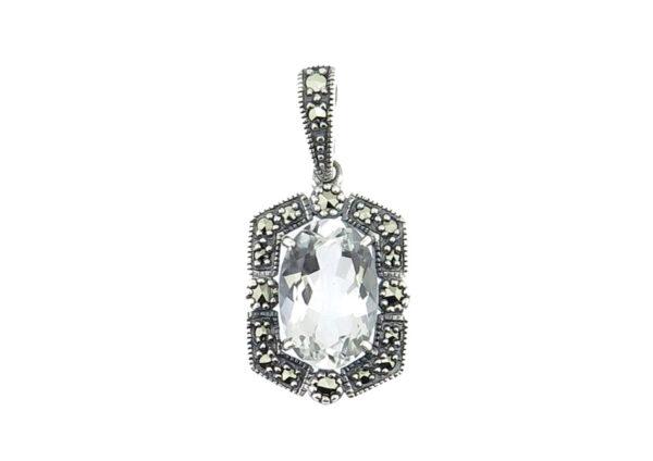 Silver Topaz Pendant MJ20377