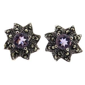 Amethyst Stud Earrings MJ20484