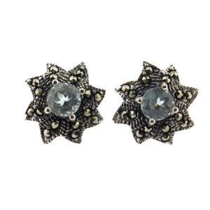 Blue Topaz Stud Earrings MJ20485
