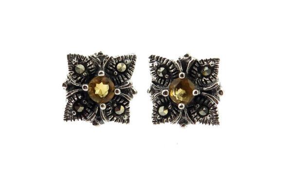 Citrine Stud Earrings MJ20490