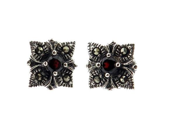 Garnet Stud Earrings MJ20491