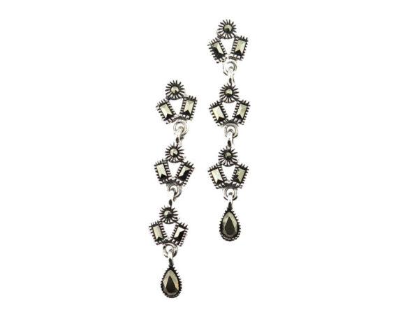 Marcasite Drop Earrings MJ20503