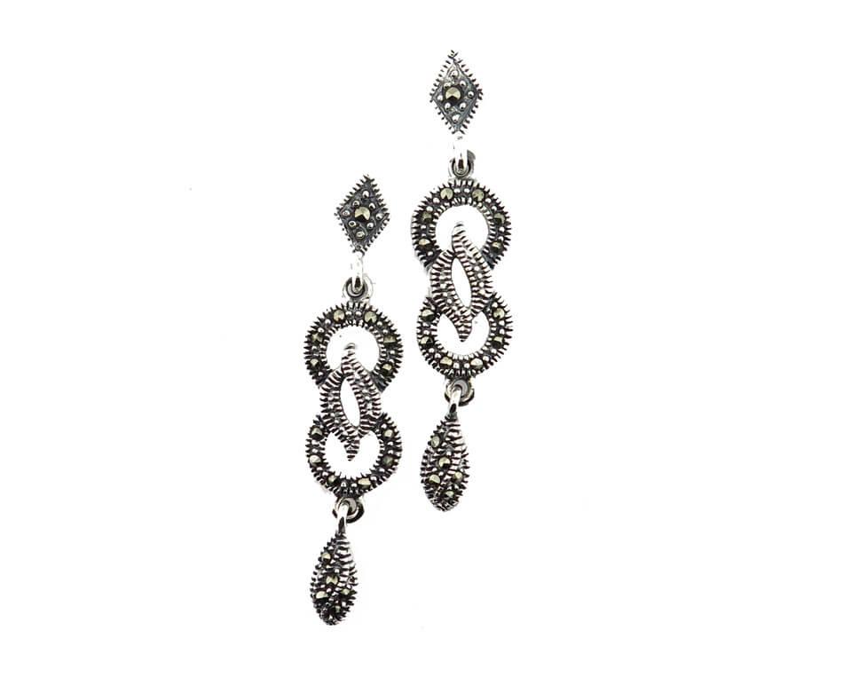 Marcasite Drop Earrings MJ20504
