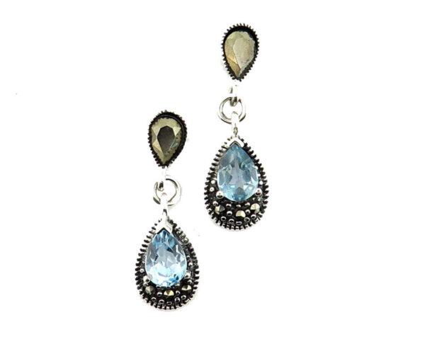Blue Topaz Earrings MJ20552