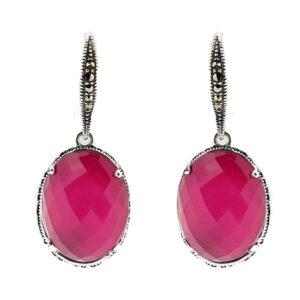 Raspberry Mother of Pearl Earring MJ20682