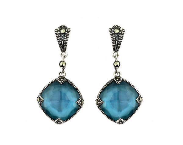 Denim Mother of Pearl Earring MJ20687