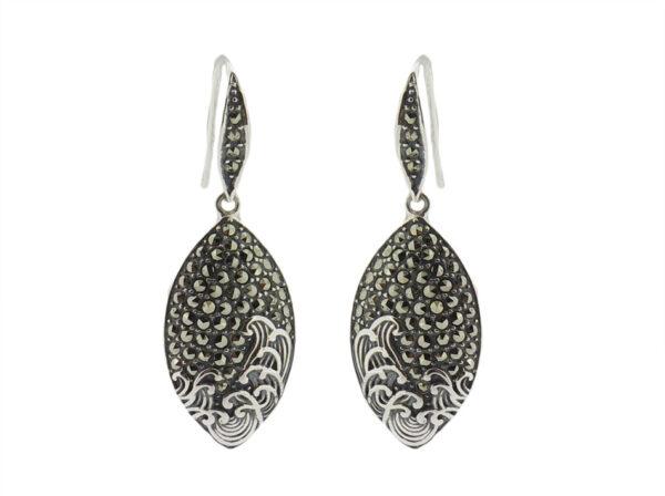 Marcasite Hook Earrings MJ20700